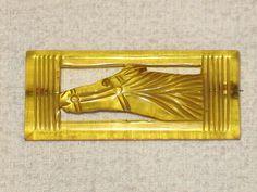 Beautiful RARE Vintage Bakelite Horse Head Pin Brooch Must See Look