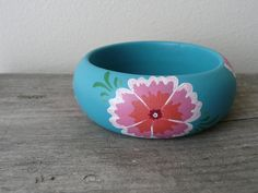 Summer breeze handpainted wooden bracelet par Aramar sur Etsy, $18.00
