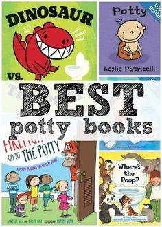 5 Great Potty Training Books-- everyone needs a good potty book