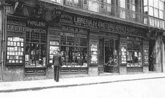 Bilbao, Emeterio Verdes bookstore and printing press. Inaugurated in 1906 with 36 employees. 9 Correo street, old town. Bilbao, Basque Country, Old Town, Big Ben, Spain, Louvre, Printing Press, France, Street