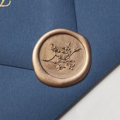 Traditional Wax Seal Stamp with Jasmine Vine motif. Illustrated by Seniman Calligraphy Seal Size: inch) Ravenclaw, Wax Letter Seal, Jasmine Vine, Blue Envelopes, Seal Design, Wax Seal Stamp, Tampons, Letter Writing, Mail Art