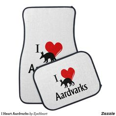 I Heart Aardvarks Car Floor Mat