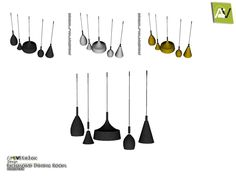 - Richmond Ceiling Lamps  Found in TSR Category 'Sims 4 Ceiling Lamps'