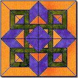 "Celtic Sunrise 12"" paper pieced block with templates. I can think of 3 people right now I could give one of these to as a pillow cover."