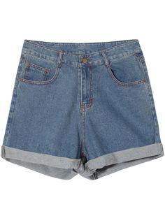 Shop Blue Pockets Vintage Flange Denim Shorts online. Sheinside offers Blue Pockets Vintage Flange Denim Shorts & more to fit your fashionable needs. Free Shipping Worldwide!