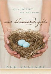 One Thousand Gifts by Ann Voskamp.  I got this.book for Christmas.  Just starting it.  It's incredible!