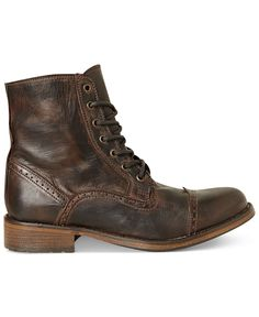 The Best Men's Shoes And Footwear : Steve Madden Men's Shoes – Macy's -Read More – Mens Shoes Boots, Sock Shoes, Shoe Boots, Men's Boots, Leather Men, Leather Boots, Brown Leather, Leather Jacket, Street Style Vintage