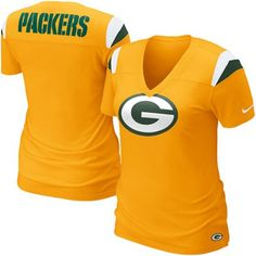 Nike Green Bay Packers Ladies Fashion Football Premium T-Shirt - Gold < This looks really comfortable and I like that it's gold. #UltimateTailgate #Fanatics
