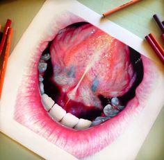 Colored pencil mouth study! Morgan Davidson