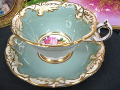 PARAGON CABINET GADROON EDGES victorianteacupshop TEA CUP AND SAUCER DUO | eBay