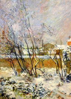 Paul Gauguin (1848-1903) - Garden in Snow - 1883 - Ny Carlsberg Glyptotek - Copenhagen