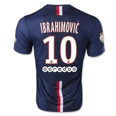 Paris Saint-Germain IBRAHIMOVIC Home Soccer Jersey) Looooove!!!