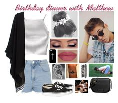 """""""Birthday dinner with Matthew"""" by roxouu ❤ liked on Polyvore featuring mode, Topshop, Antonia Zander, Vans, She's So, Girlactik, Casetify, 1&20 Blackbirds et MICHAEL Michael Kors"""