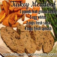 Clean Turkey Meatloaf!  This is SO good and easy to make.  There are only four ingredients and you can choose to cook in the oven or crockpot!
