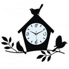 Laser cut  birdhouse wall clock.