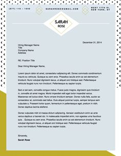 introduction letter for resume