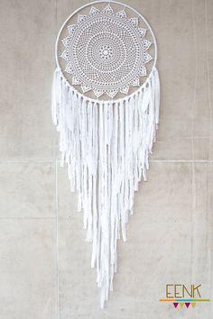 Huge White Doily Crochet Bohemian Dreamcatcher for Native Style Home Decor