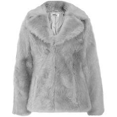 Jakke Charlie Fur Coat (£63) ❤ liked on Polyvore featuring outerwear, coats, jackets, coats & jackets, fur coat and jakke