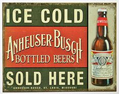 Budweiser ICE COLD  Beer Bar and Restaurant Aluminium Door Sign Plaque House