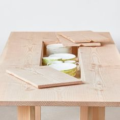 Max Lamb's Planks furniture collection for Benchmark features hidden storage