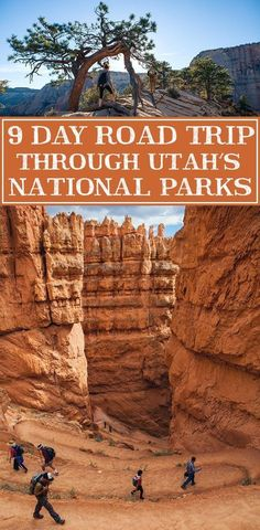 Your guide to an epic 9 day road trip through Utah's most beautiful parks. This would be an amazing summer road trip with the kids! park Driving The Utah National Parks - 9 Day Road Trip Voyage Usa, Voyage New York, Road Trip Usa, Places To Travel, Places To See, Camping Places, Monument Valley, Photos Voyages, Beautiful Park