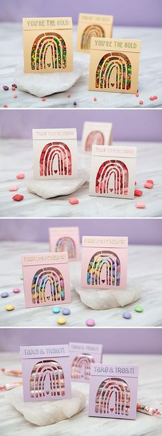 Use your Cricut to cut and make these adorable boho rainbow treat pouches! Unique Wedding Favors, Unique Weddings, Diy Wedding, Rainbow Treats, Pouches, Cricut, Diy Projects, Tutorials, Turquoise