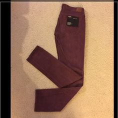 "Urban outfitters red wine corduroy pants, size 26 Urban outfitters red wine corduroy skinny jeans, size 26, NWT. Fit true to size. Length approx.38"", waist 14"", inseam 30"", rise 8"", hips 16"". Open to reasonable offers. No trade PayPal or hold. Thanks! Urban Outfitters Pants"