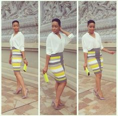 Pokello Nare | African Wear, African Dress, African Fashion, Simple Outfits, Chic Outfits, Fashion Outfits, Womens Fashion, Contemporary Fashion, Office Wear