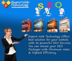 Expert Web Technology Offers best solution for your website with its powerful SEO Services. You can choose your SEO Packages with Minimum rates & Highest Efficiency.