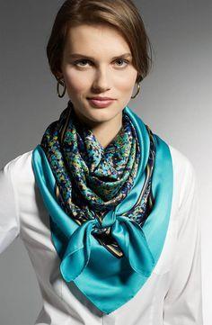 Tied silk scarf