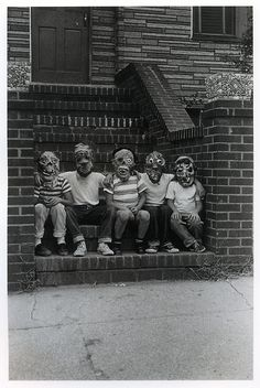Five Members of the #Monster Fan Club, New York, 1961 by Diane #Arbus. (1923-1971, American) Jim Warren's famous Monsters Fan Club, Queens, N.Y. Chapter, photo i.gelatin silver 1964 Photograph (9x6in). Sotheby's: USA