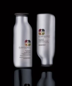 L'Oreal shampoo line gets a whole new look: Pureology brand professional products have been literally flipped over on-shelf in sophisticated pearlescent toned, multi-tasking bottles designed to reflect their vegan formulation and sustainable packaging. Bottle Packaging, Cosmetic Packaging, Brand Packaging, Packaging Ideas, Loreal Shampoo, Good Shampoo And Conditioner, Shampoo Bottles, Container Design, Best Shampoos