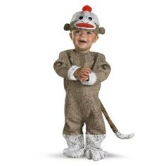 Disguise Inc All NEW Sock Monkey Baby Costume.  $24.99            The one and only Sock Monkey!  This is an absolutely adorable two piece costume with a detachable tail.  This is the perfect costume for infants as it has snap closure pants making it easy for diaper changes and is very easy to get on and off.  The classic sock monkey is e...