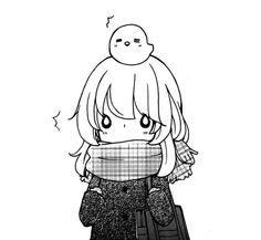 Cute anime manga girl