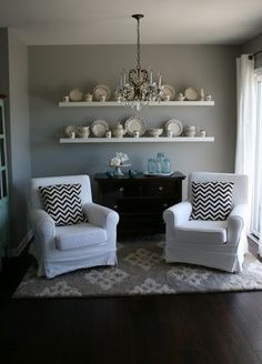 Benjamin Moore Revere Pewter in the living and dining room for sure!!!!!!!!!!!!