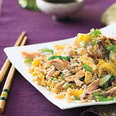 Chicken-and-Cabbage Fried Rice - Why all the oil?  Leave it out to make it more healthy and reduce the eggs and/or use Eggbeaters.