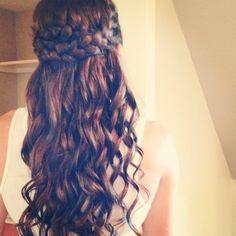 Bridesmaid hair #braids #curls