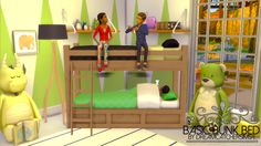 The Sims 4 | DreamCatcherSims4 Basic Bunk Bed Frame | buy mode kids room