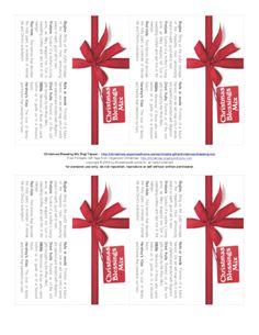 Christmas Blessings Mix bag topper printable - freebie!