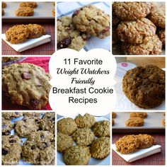 WW Recipes: 10 Healthy Low Calorie Breakfast Cookie Recipes perfect portable on the go or snack, WW Freestyle SmartPoints Oatmeal Breakfast Cookies, Breakfast Cookie Recipe, Breakfast Recipes, Pumpkin Breakfast, Breakfast Muffins, Breakfast Ideas, Weight Watchers Breakfast, Weight Watchers Meals, Low Calorie Recipes