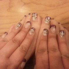 Glamour Salon - Columbia, MD, United States. Vivian's free hand nail art