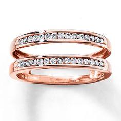 Diamond Enhancer Ring 1/4 ct tw Diamonds 14K Rose Gold
