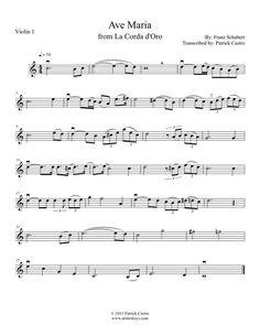 1st violin sheet music for Ave Maria from La Corda D'oro~Primo Passo #learnviolin