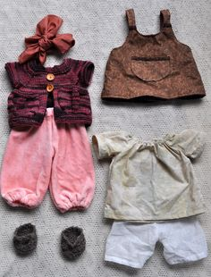 Walldorf doll clothes, wouldn't mind dressing my babygirl in these though . . .