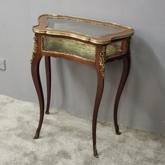 Antiques Tables Antique French Rosewood & Ormolu Bijouterie Display Table 2019 Official