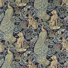 The Original Morris & Co - Arts and crafts, fabrics and wallpaper designs by William Morris & Company   Products   British/UK Fabrics and Wallpapers   Forest (Viscose/Linen) (DARP222534)   Archive II Prints