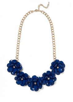 In Bloom Necklace - Navy Blue