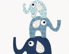 Alligator Bird Nursery Artwork Print Baby by 3000yardsofthread