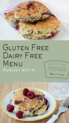 Gluten Free Dairy Free August 2014 Menu | Once A Month Meals | OAMC | Freezer Cooking | Freezer Meals | Customized Shopping List |