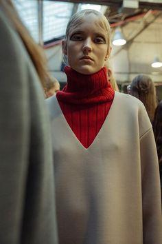 DKNY AW15 Masculine Oversized Knitwear